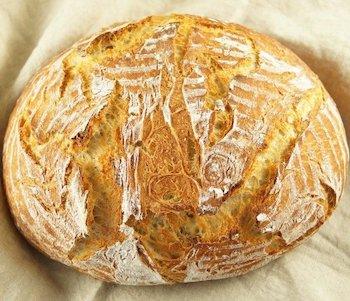 Sourdough bread dough rises in the Instant Pot