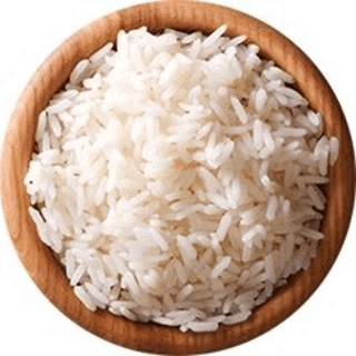 Bowl of rice cooked in the Instant Pot